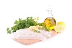Filé för rå fisk royaltyfri fotografi