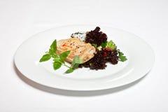 Filé för stekhöna med ris och grönsaker Royaltyfri Foto