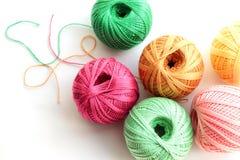 Filé pour le tricotage Image libre de droits