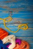 Filé pour le tricotage Images stock