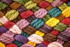 Filés de laine colorés multi Photographie stock libre de droits