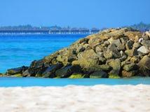 Filón, centro turístico y océano Imágenes de archivo libres de regalías