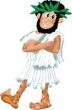 Filósofo del griego clásico en guirnalda del laurel ilustración del vector