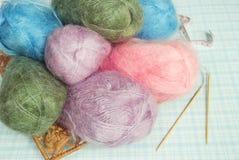Fil à tricoter Photos libres de droits