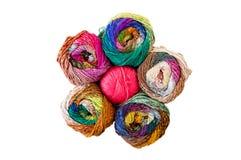 Fil à tricoter coloré Photographie stock