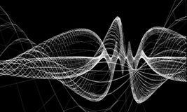 Fil abstrait avec des lignes communication de fond Illustration futuriste scientifique de vecteur