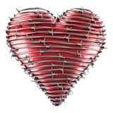 fil barbelé de coeur Photo stock