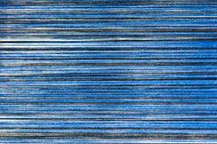 Fil bleu et noir de coton pour tisser pour la texture et le fond abstraits Photographie stock libre de droits