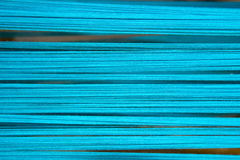 Fil bleu mou de coton pour le fond abstrait Photographie stock libre de droits