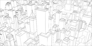Fil-cadre New York City, style de modèle Photo libre de droits