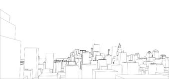 Fil-cadre New York City, style de modèle Illustration Stock