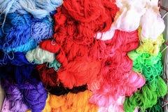 Fil coloré de laine Images libres de droits