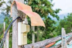 Fil de câble - temple de Chiangrai photos libres de droits