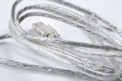 Fil de connecteur d'USB Photo libre de droits