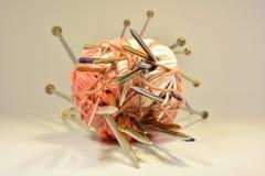 Fil de coton pour le tricotage Photos stock