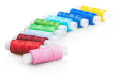 Fil de couture multicolore Image stock