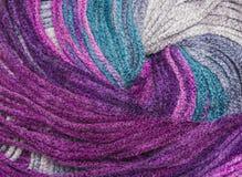Fil de fond pour le tricotage Modèle de tricotage de laine colorée de fil Photographie stock libre de droits