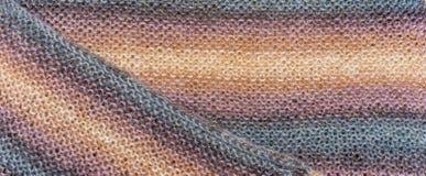 Fil de fond pour le tricotage Modèle de tricotage de laine colorée de fil Images libres de droits