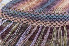 Fil de fond pour le tricotage Modèle de tricotage de laine colorée de fil Photographie stock