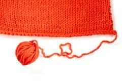 Fil de laine et textile tricoté photos libres de droits