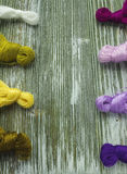 Fil de laine pour la broderie Image stock