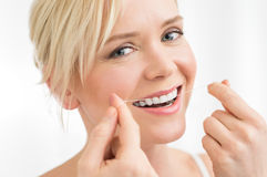 Fil dentaire images libres de droits