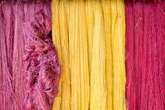 Fil en soie coloré Images stock