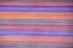 Fil en soie coloré, graphique, Thaïlande Photographie stock libre de droits