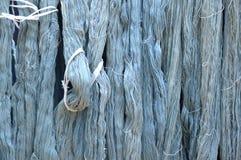 Fil en soie cru bleu Photographie stock libre de droits