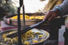 Fil en soie cru de conversion de conversion en soie crue Photographie stock libre de droits
