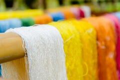 Fil en soie dans le pays de l'Asie, production en soie Photos libres de droits