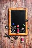 fil et boutons de couture Image libre de droits