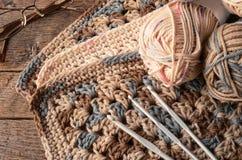 Fil et crochet de crochet photo stock