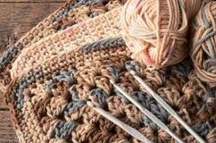 Fil et crochet de crochet images stock
