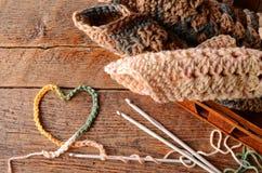 Fil et crochet de crochet image stock