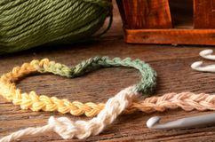Fil et crochet de crochet image libre de droits