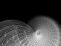 Fil et ligne illustration spiralée Photographie stock