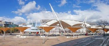 FIL (Feira Internacional de Lisboa/feria internacional de Lisboa) en Parque das Nacoes Imágenes de archivo libres de regalías