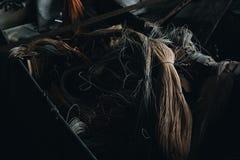 Fil jeté de rayonne - Scranton abandonné lacez le moulin en soie - Scranton, Pennsylvanie photographie stock