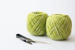 Fil pour l'outil de tricotage et de tricotage Photos stock