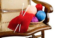 Fil pour le tricotage image stock
