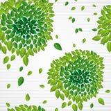 Fil senza cuciture del modello EPS10 delle foglie verdi contemporanee di tempo di primavera Fotografia Stock Libera da Diritti