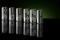 Fila 2 del dominó Fotos de archivo libres de regalías