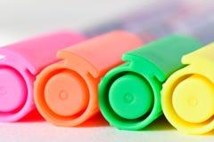 Fila al neon Immagine Stock