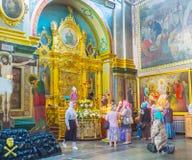 A fila ao ícone da Virgem Maria Imagem de Stock Royalty Free