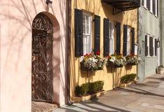 Fila Charleston South Carolina del arco iris Fotos de archivo libres de regalías