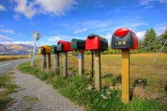 Fila colorida de los rectángulos del poste Fotos de archivo libres de regalías