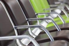 Fila de asientos en el aeropuerto Foto de archivo libre de regalías