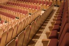 Fila de asientos en el filarmónico Fotos de archivo
