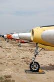 Fila de aviones de combate clásicos Fotos de archivo libres de regalías